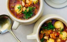 Cannelini bean and pancetta soup - with ricotta dumplings