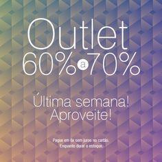 Venha aproveitar a última semana do Outlet Anasthacia.   Acesse: www.anasthacia.com.br Endereço loja física: Rua T-28, nº 1069, Loja 4 - Setor Bueno