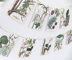 Tree Bunting - paper Bunting - eco-friendly bunting - wedding decor £10.00