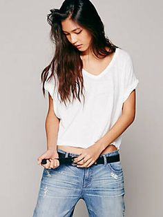 Free People We The Free Keep Me Crop Tee, $48.00