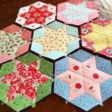 Image result for tumbling block star quilt