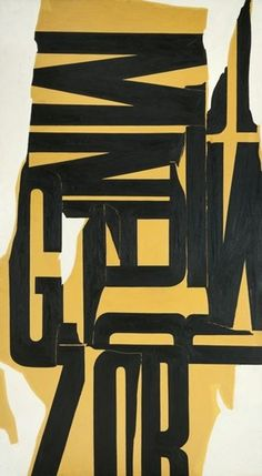 William Klein, Letterist painting, 1963-64