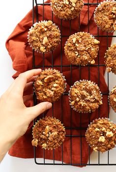 Healthy Carrot Muffins! Vegan, #Glutenfree and just ONE bowl!! #minimalistbaker