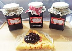 TraRita sütödéje és egyéb munkái : Feketeerdő lekvár Waffles, Pancakes, Diy Food, French Toast, Food And Drink, Spices, Pudding, Sweets, Bread