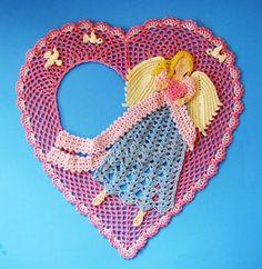 PDF Crochet Pattern Angel of Love Doily por BellaCrochet en Etsy