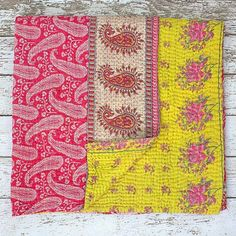 Sari throw..from Buy The Change. hand stitched reclaimed sari fabric. India