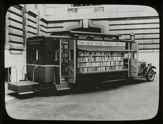 NYC bookmobile, 1930s