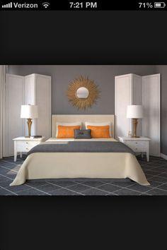Grey And Orange Room