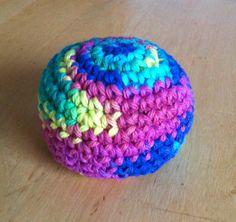"""Rainbow Hackysack Rice-filled Cotton Yarn 3"""""""