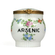 Arsenic Jar Limoges Porcelain Phisick Medical Antiques ❤ liked on Polyvore featuring fillers, decor, food, home and objects