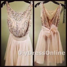 New Arrival Princess Sparkly Beaded Bodice Champagne Tulle Homecoming Dresses Short Prom Dresses 2015 Graduation Dresses APD1440