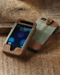 Leather & Canvas iPhone Case - $48.85 | Territory Ahead Dads