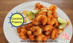 Coconut prawns