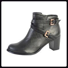 Damen Enza Nucci QL2226 Schwarz - Stiefel für frauen (*Partner-Link)