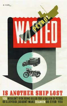 Original Vintage Posters -> War Posters -> Wasted Set WWII UK Abram Games - AntikBar