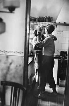 """Available for sale from Magnum Photos, Elliott Erwitt, """"Couple dancing"""" (Valencia, Spain) Signed silver gelatin print (photographer's signature on … Dancing In The Kitchen, Robert Frank, Valencia Spain, Lets Dance, Belle Photo, Black And White Photography, In This World, Street Photography, Photography Gels"""