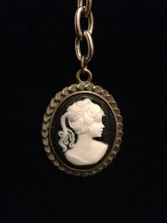 Cameo Keychain by CountryGalPicker on Etsy, $8.00