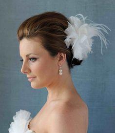 Feather Fascinator Wedding Headpiece