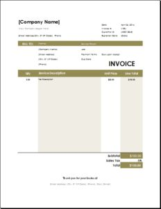 Excel Template For Invoice Interesting Cleaning Services Invoice Template  Excel Invoice Templates .