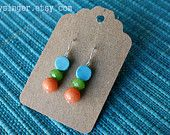 earrings: turquoise howlite with carrot and apple jade via @wifeysinger