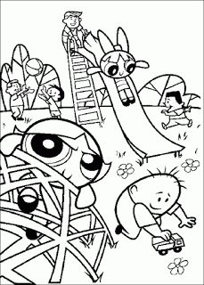 Power Puff Girls Coloring Pages | Learn To Coloring