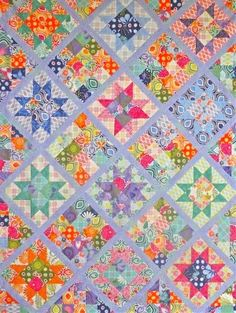 Sawtooth Star jelly roll quilt Laura Nownes