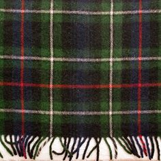 Vintage Troy Blanket Green Navy Red Wool by LovelyLinensandMore, $32.00