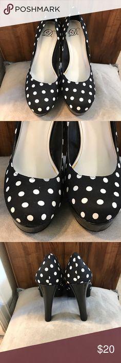 High heels Black with white polka dots high heels Shoes Heels