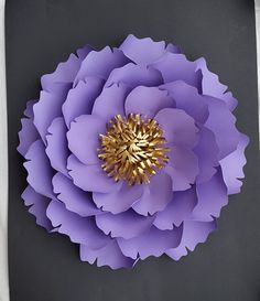 Large paper flowers for 1st birthday paper by PoshPaperDesignss