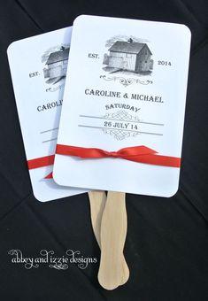 Wedding Hand Fan |  Barn Wedding Favor | Rustic Wedding  by abbey and izzie designs