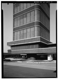 Johnson Wax Headquarters | Racine, Wisconsin | Frank Lloyd Wright | photo by Jack E. Boucher