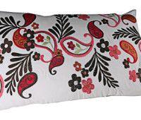 Leaf Embroidered Cushion