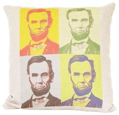 Abe Lincoln Pop Art Pillow