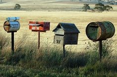 recycling . post boxes