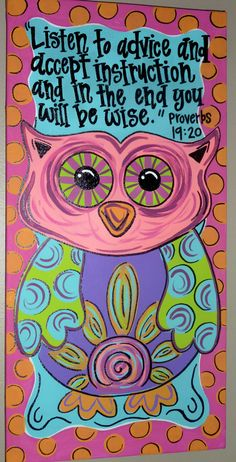 I like the verse with the owl---