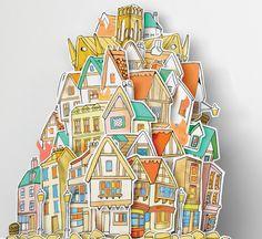 Fire of London (3D papercut) by Matt Ellero