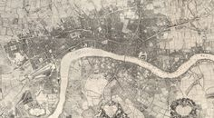 See how the fields meet the contours of the city in this photo wallpaper over London as it appeared in 1746. This is a reprint from 1919 and a dynamic design for a room that can handle a real conversation starter on the wall.