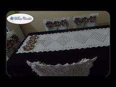 Harmonia em Crochês: Passo a passo completo do kit do caminho de mesa e...