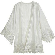 CALYPSO St. Barth Harada Cotton Eyelet Kimono Jacket