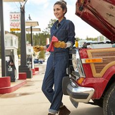 Super comfy stretch denim and durable construction make Take On All Coveralls the one and only for tough jobs and all-day comfort. Playsuit Romper, Jumpsuit, Jean Overalls, Moto Style, New Wardrobe, Stretch Denim, Work Wear, Nice Dresses, Mom Jeans