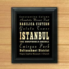 Istanbul Turkey Typography Art Poster / Bus / by LegacyHouseArt