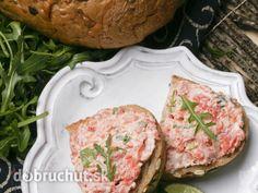 Lososová pomazánka Russian Recipes, Salmon Burgers, Food Inspiration, Pesto, Polish, Ethnic Recipes, Water, Salmon Patties, Vitreous Enamel