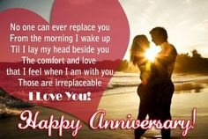 Happy wedding anniversary wishes for husband with images and