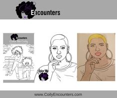 Natural Hair Adult Coloring Book and pages features afro puffs, twist outs, bantu knots and loc styles for women. We call this Natural Hair Adult Coloring Page, BaldieLocs!  She is rocking her low fade for women. Natural Hairstyles for women!  To purchase our natural hair coloring book, visit www.ColorMeCoily.com