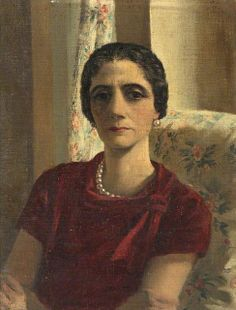 Portrait of Hannah Ezra by Rex Whistler (English 1905-1944).