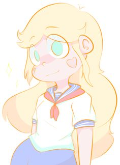 "starydraws: ""Star butterfly in japanese uniform """