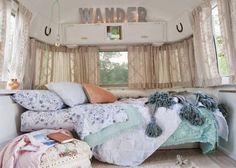 RV Camper Vintage Bedroom Interior Design Ideas 70