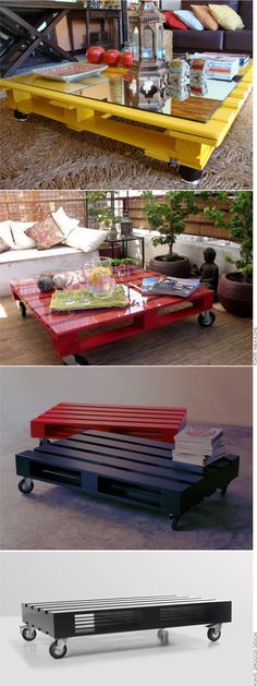 Wooden Pallet Table, Pallet Crates, Wooden Pallet Furniture, Wooden Pallets, Paint Furniture, Wooden Diy, Pallet Projects, Home Projects, Upcycle Home