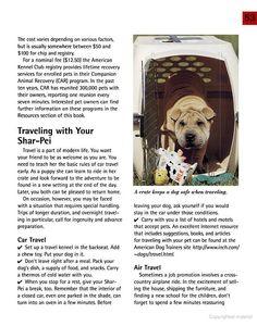 Shar-Pei - Traveling tips :)