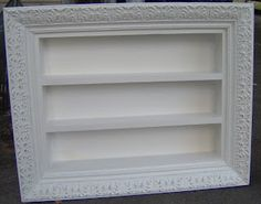 repurposed frame shadow box - frame + utensil tray This would be a great idea for craft room storage maybe thread?